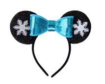 Frozen Mickey Ears, Frozen Ears, Elsa Mickey Ears, Snowflake Mickey Ears, Bow Minnie Ears, Frozen, Disney Ears, Disneyland Ears, Elsa Ears