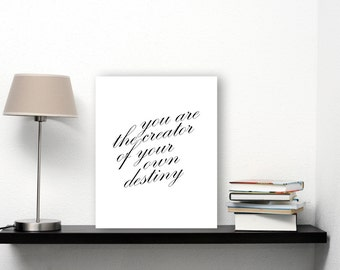 Destiny Poster, Inspiring Quotes For Wall, Calligraphy Download Printable Verse Art, Quote Artwork, Inspiring Art, Inspiring Wall Art