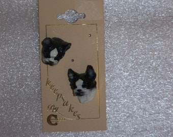 Boston Terrier Post Earrings from Conversation Concepts