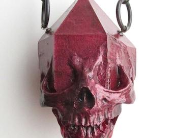 ONLY 1 LEFT - Limited Edition Crimson Metallic Emergent Skull