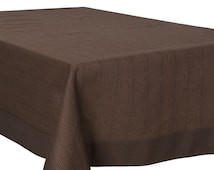 Brown linen tablecloth, square/ rectangle, brown table top, natural linen, brown tablecloth, linen tablecloth, square linen tablecloth