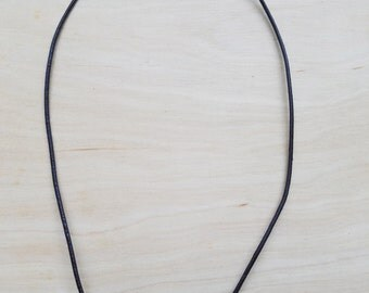 Fresh Water Pearl Brown Leather Cord Necklace