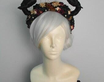 Gothic Woodland Fairy/Pan/Bull/Taurus Horned Headdress