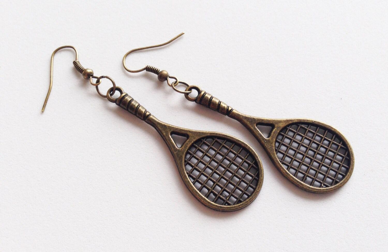 tennis racket earrings tennis racket jewelry tennis racket