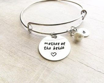 Mother of the Bride Gift from Daughter - Gift for Mom Wedding - Mother of the Bride - Bangle Bracelet