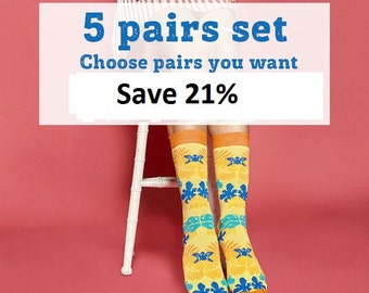 Make your set by yourself. Choose five pairs you want. Free delivery