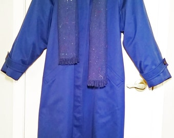 Trench Coat SALE Was 115.00 Now 90.00  Royal Blue Maxi Trench Coat, 1980s