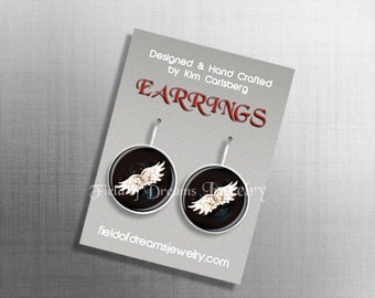 GUARDIAN ANGEL EARRINGS Angel Wing Earrings Angel Jewelry Angel Gift Spiritual Earrings Religious Earrings Angel Wings Jewelry Feathers Gift
