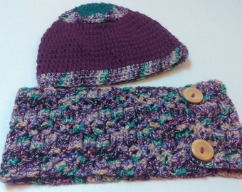 Cosy Crocheted Cowl and Hats