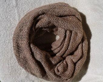 "Tan Knit Infinity Scarf, 12""wide x 45"" long, Knit Infinity Scarf, Infinity Scarves, Tan Scarf,"