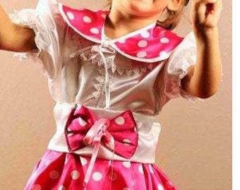 MINNIE MOUSE free shipping pink minnie mouse costume handmade