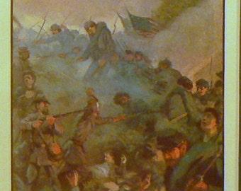 c1930 Gettysburg Matted Civil War Print