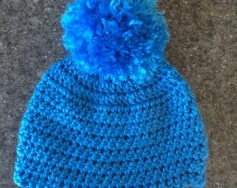Handmade Crochet Beanie with Pom Pom