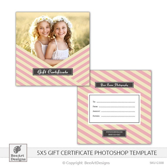 instant download photography gift certificate template. Black Bedroom Furniture Sets. Home Design Ideas