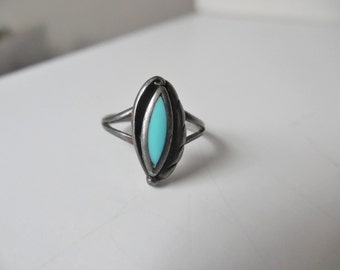 Sterling Silver Ring Vintage Sterling Ring Vintage Silver Ring Vintage turquoise Ring Silver and turquoise ring Vintage Ring 925 sterling