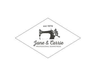Premade logo design Seamstress | Tailoring logo | Sewing machine logo | logodesign | Seamstress logo | Sewing shop logo | Sewing logo