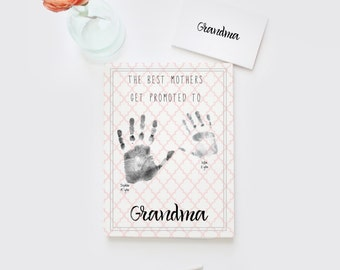 Mother's Day for grandma, Gift for grandma, DIY printable gift for mom, gift for mum, best mothers get promoted, new grandma gift