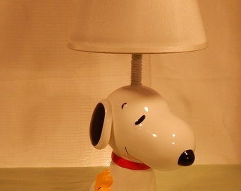 Snoopy and Woodstock Bank Lamp
