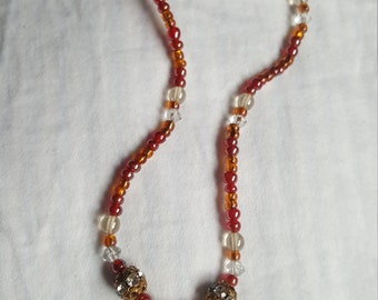 Agate beaded necklace