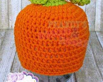 Crochet Pumpkin Hat~0-6 months