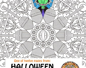 Halloween Mandala Coloring Page Hensons Henchmen
