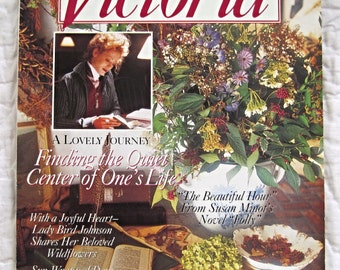 Vintage Victoria Magazine September 1993, Back Issue Magazine, Home Decor, 1990s