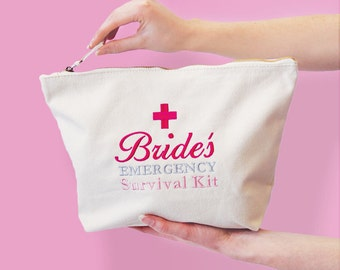 Bride's Emergency Survival Kit Bag, Ready to be filled with Wedding Day Essentials, Bridal Gift Bag