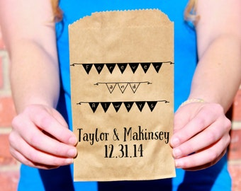 Forever and Always, Wedding Favor Bags, Treat Bags, Favor Bags - Kraft Paper Bags