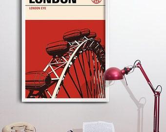 London Print, Graphic Travel Poster