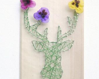 DIY kit deer design - String art kit - Deer pattern - Nursery wall art - kid room - birthday gift