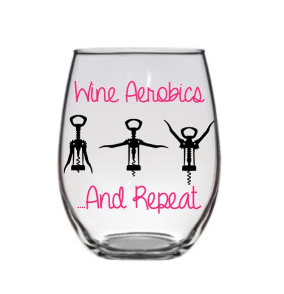 Funny Wine Glass, Wine Aerobics Wine Glass,Funny Wine Glasses, Cute Wine Glass