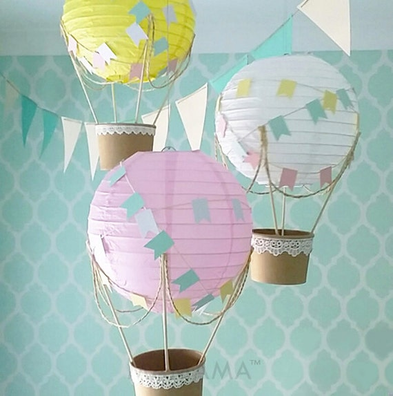 Items similar to whimsical hot air balloon decoration diy for Balloon decoration kit