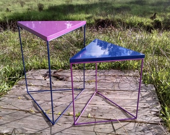 Triangle Accent Tables with Custom Colors