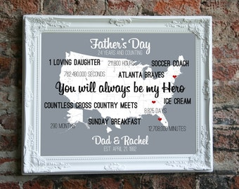 Fathers Day Gift from Daughter, Fathers Day Gift from Kids, Father Son Gift, Father Daughter Gift, Personalized Fathers Day Gift Ideas