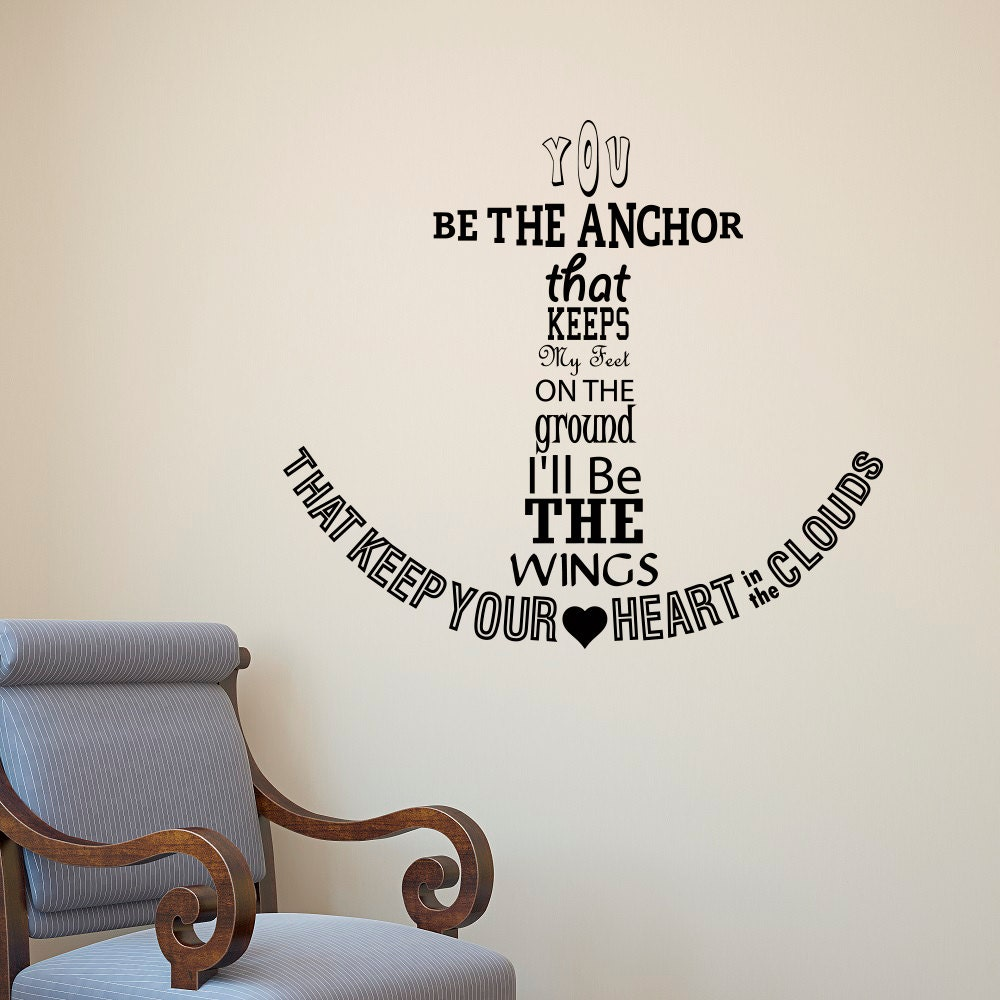 Nautical anchor wall decal quote you be the anchor that keeps description nautical anchor wall decal amipublicfo Image collections