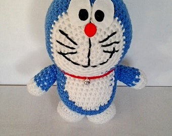 Large in Doraemon amigurumi plush