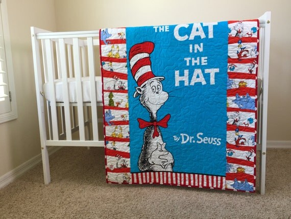 Dr Seuss Cat In The Hat Crib Bedding