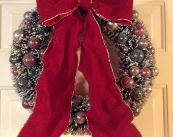 Christmas Wreath Christmas Decoration Red Bow Wreath