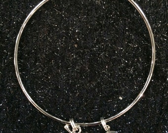 Bullet bracelet 9mm ammo charm bracelet handgun silver tone Gun Tote'n Girl jewelry