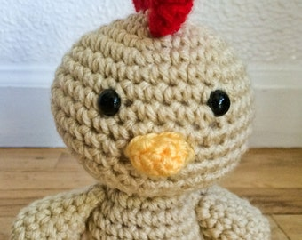 Crocheted Chicken, Stuffed Chicken, Plush Chicken, Amigurumi Chicken, Crocheted Farm Animals