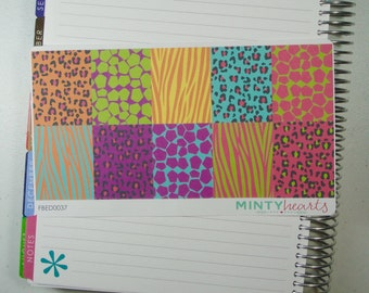 FBED0037 // Neon Animal Print Full Box Planner Stickers
