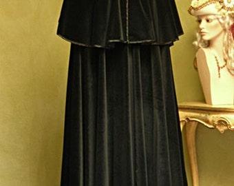Velvet Cape for Men - Handmade in Venice, Italy - Very Warm- M02