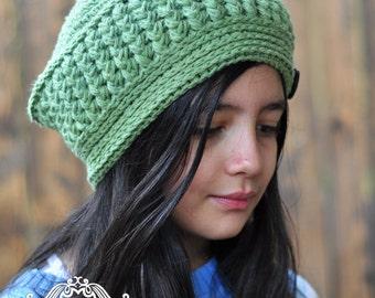 CROCHET HAT PATTERN - The Evergreen Forest Beret, Crochet Beret (Toddler, Child, Adult sizes)