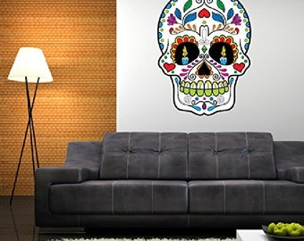 Sugar Skull Day of the Dead Mexico Wall Decal