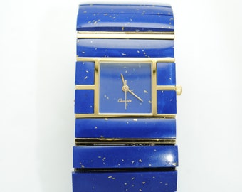 Vintage lapiz lazuli watch XL extra large
