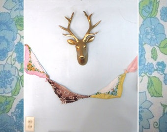 32 Colors - Large Deer Bust - Faux Taxidermy - Shabby Chic - Rustic
