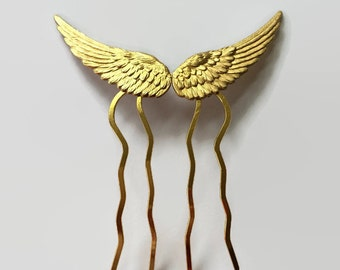 Gold Wings Hair Comb Wings Hair Pin Bridal Hair Comb Bridal Hair Accessories Angel Wings Bird Wings Costume Hair Pin Gold Hair Comb