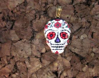Dia de los Muertos Skull Pendant
