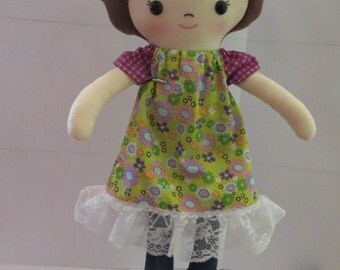 Ragdoll, Doll. Handmade doll, Girl, Baby, Birthday