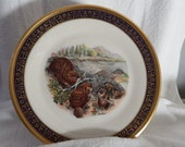 LENOX BEAVER PLATE, Collectors Plate, Woodland Wildlife, Bochm,1977, Home Decor